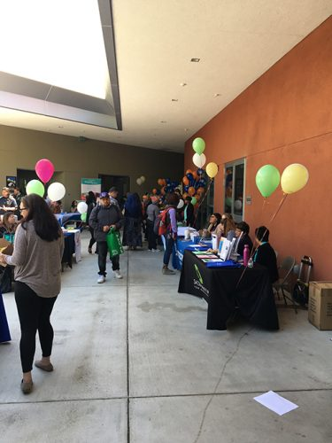 Students visit different vendors and booths during the Spring Career Fair on April 12, 2018. (Photo by Gabe Carlos)