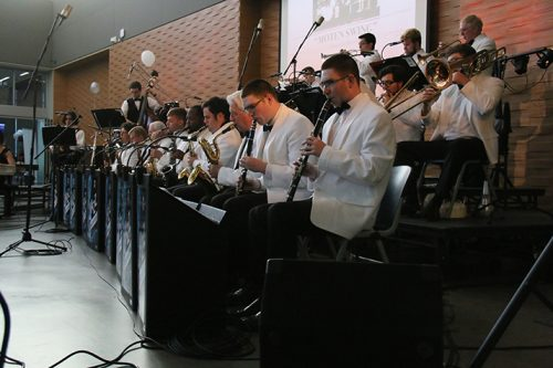 The American River College studio jazz ensemble performing the opening act for the