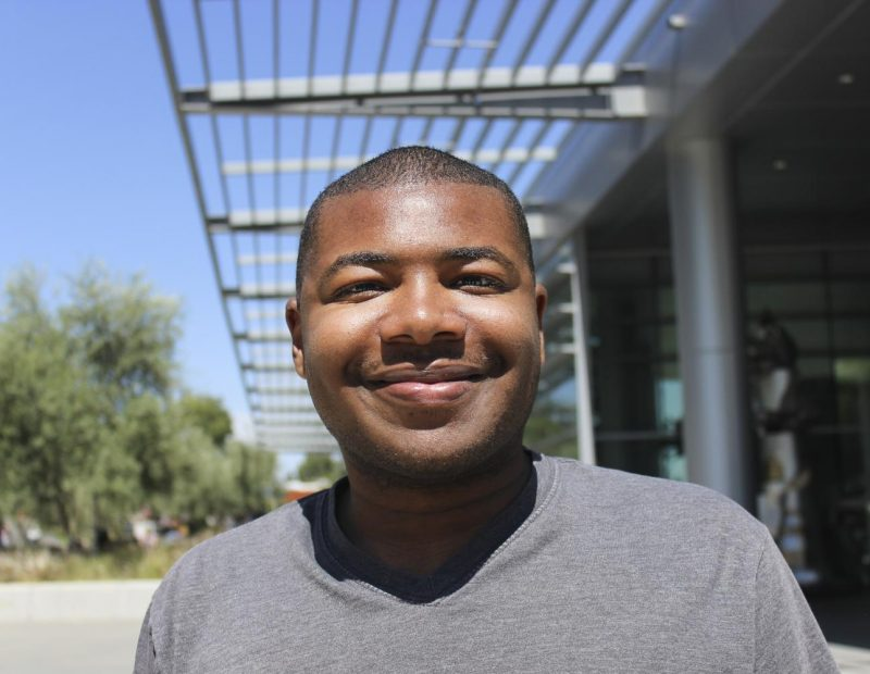 """""""I think all of [the bathrooms] are pretty nice. [The bathrooms] that are closest to my clases [are the most convenient]."""" -Anthony Jennings   Music Major"""