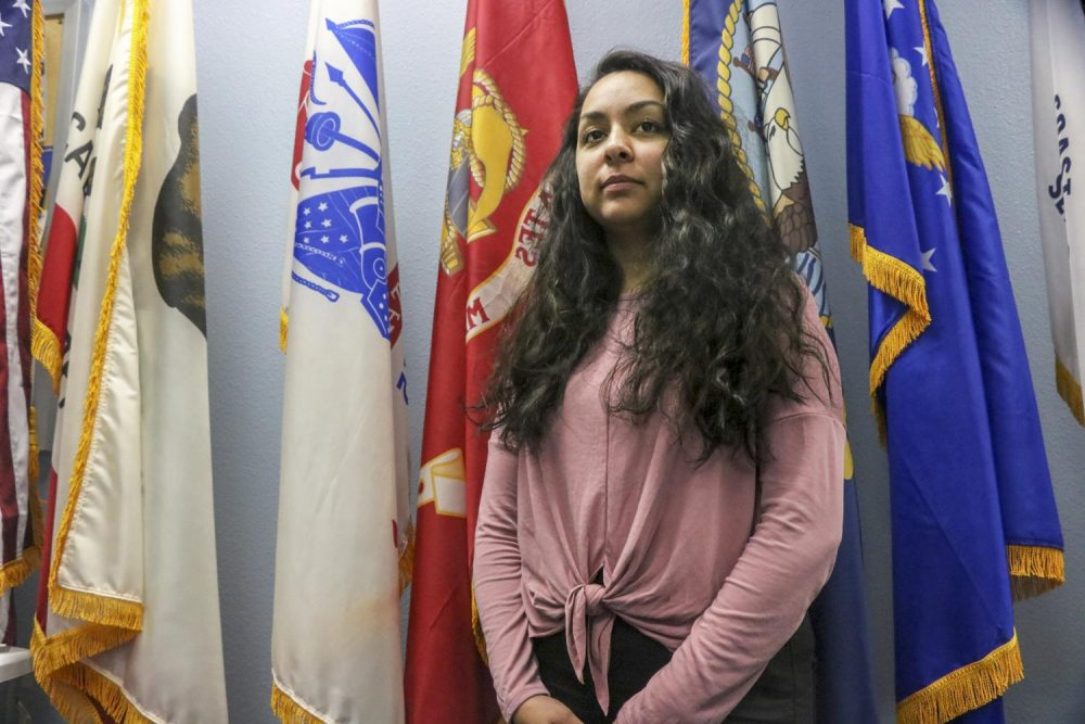 Brittney Goode prepares to volunteer for the Military Women's Appreciation Day at the Veteran's Resource Center on Oct. 3rd (Photo by Christian Sutton)