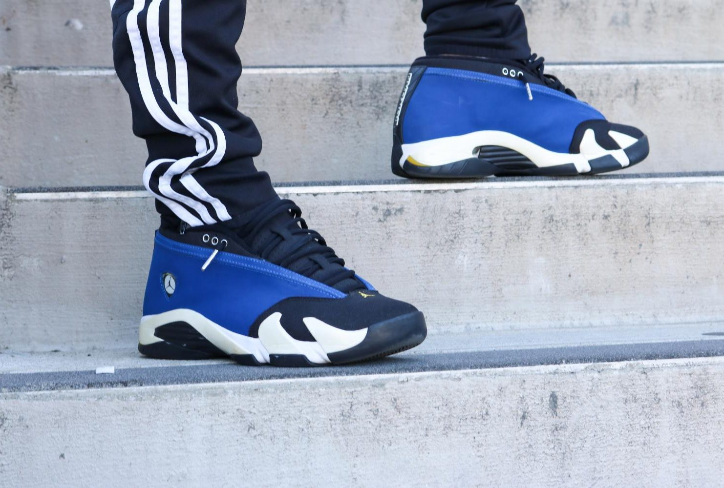 """""""The most I've ever done is woke up at 6 a.m. and stayed on the computer raffle for like three hours and I did get the shoe, it was worth it, it was my first pair of Yeezys."""" – Lineker Carvalho   Sociology   Air Jordan 14 Retro Low """"Laney"""" (Photo by Felix Oliveros)"""