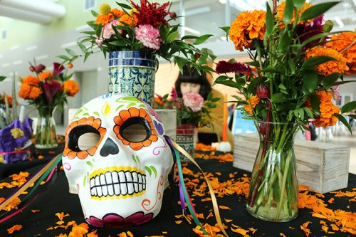 The American River College horticulture department celebrated Dia De Los Muertos on Nov. 1, 2018 with a themed flower sale in the Student Center.