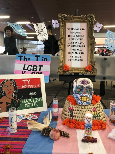 The American River College Pride Center holds a Trans Remembrance event to remember the transgender and gender-nonconforming people who have been murdered and raise awareness about the discrimination in the trans and gender-nonconforming communities in the Student Center on Nov. 27, 2018.(Photo by Alexus Hurtado)