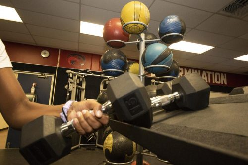 Students should consider more affordable fitness options aside from costly gyms. (Photo by Ashley Hayes-Stone)