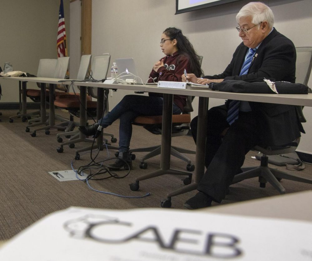 Student Senate President, Rebeca Rico-Chavez facilitates both the Club and Events Board and Associate Student Body due to a lack of representation in CAEB. (Photo by Ashley Hayes-Stone)