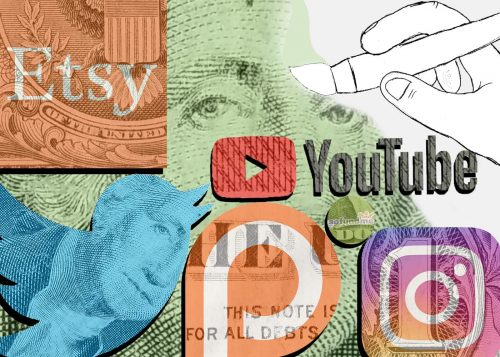 Taking the Monetizing Social Media for the Artist class, offered in the spring 2019 semester by Matthew Stoehr at American River College, students will be able to learn to use media sites like Twitter and Instagram in a way that they will be able to learn how to create a career for themselves as an artist. (Graphic Design by Patrick Hyun Wilson)
