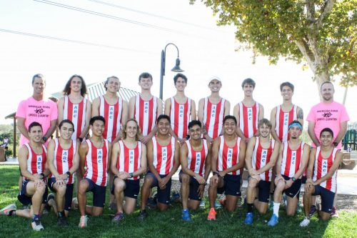 The American River College men's cross country team poses at the Big 8 Conference Championships hosted at Hidden Valley Park in Martinez. (Photo Courtesy Rick Anderson)