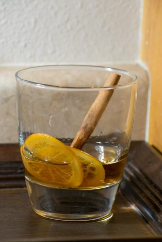 A Cinnamon Old Fashioned, a sweet drink to warm your belly on a cold winter night. (Photo by Patrick Hyun Wilson)