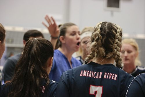American River Volleyball -- pictured here at the quarterfinals of the CCCAA State Championship Tournament in November, 2018 -- closed out another successful season this year and will play their first post-season game on Nov. 26, 2019. (Photo by Jennah Booth)