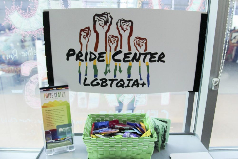The LGBTQ+ Pride Center provides information about resources to students, staff, and faculty. (Photo by Katia Esguerra)