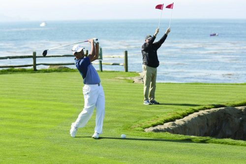Jonathan Tanihana plays at the Nature Valley First Tee Open at Pebble Beach for the PGA Tour Champions. He played alongside American Professional golfer, Kevin Sutherland and placed second out of the approximately 81 golfers who played at the event.