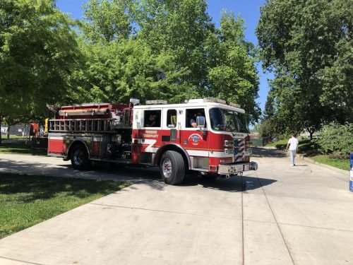 Sacramento Metropolitan Fire was on the American River College campus in response to a call about a possible medical issue on April 25, 2019. (Photo by Makenna Roy)