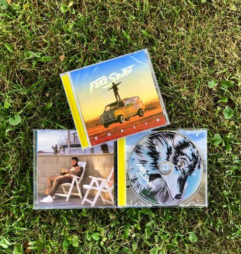 The artwork for the physical copies of Khalid's album releases. (Photo by Makenna Roy)