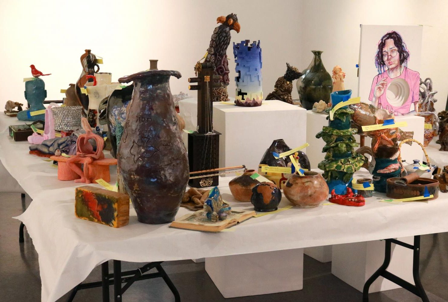 The Kaneko Gallery at American River College is curently hosting the student art show exhibition competition which will be continuing through May 17. (Photo by Thomas Cathy)