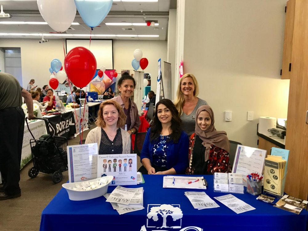 The American River College Career and Pathways Support Service staff help students acquire good resume creation and interview skills to get hired for jobs. (photo courtesy of Laura Adams)