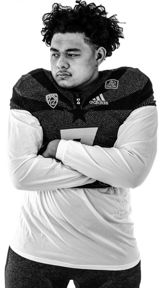 Freshman defensive lineman T.J Pesefea played just nine games for American River College while completing his goal to play one year at a community college and transfer to a Division I school. (Photo courtesy of T.J Pesefea)