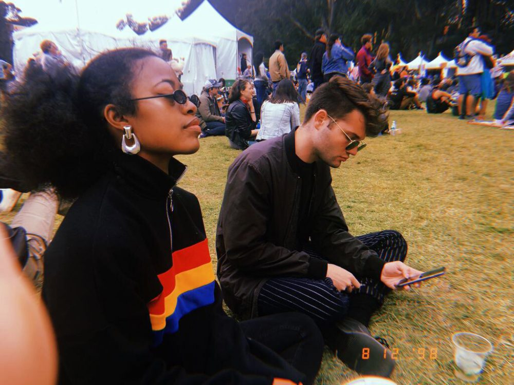 Opinion+editor+Imani+Smith+and+her+friend+Joshua+Lao+at+Golden+Gate+Park+for+Outside+Lands+2018+in+San+Francisco.+%28Photo+Courtesy+Imani+Smith%29