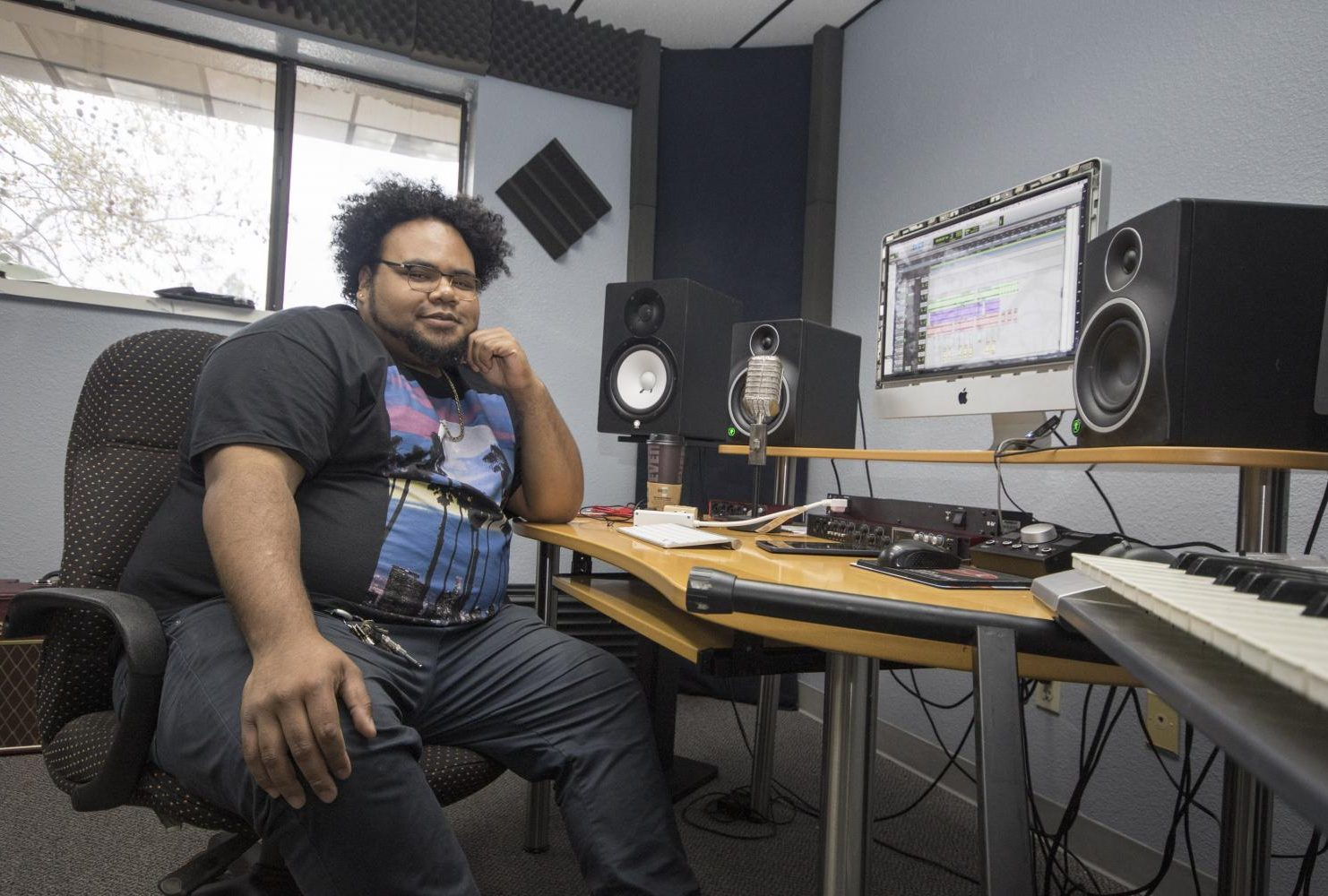 Former American River College student Jesse Hanes, otherwise known as Kassette, has been making music in the new Think Tank studio in Sacramento.