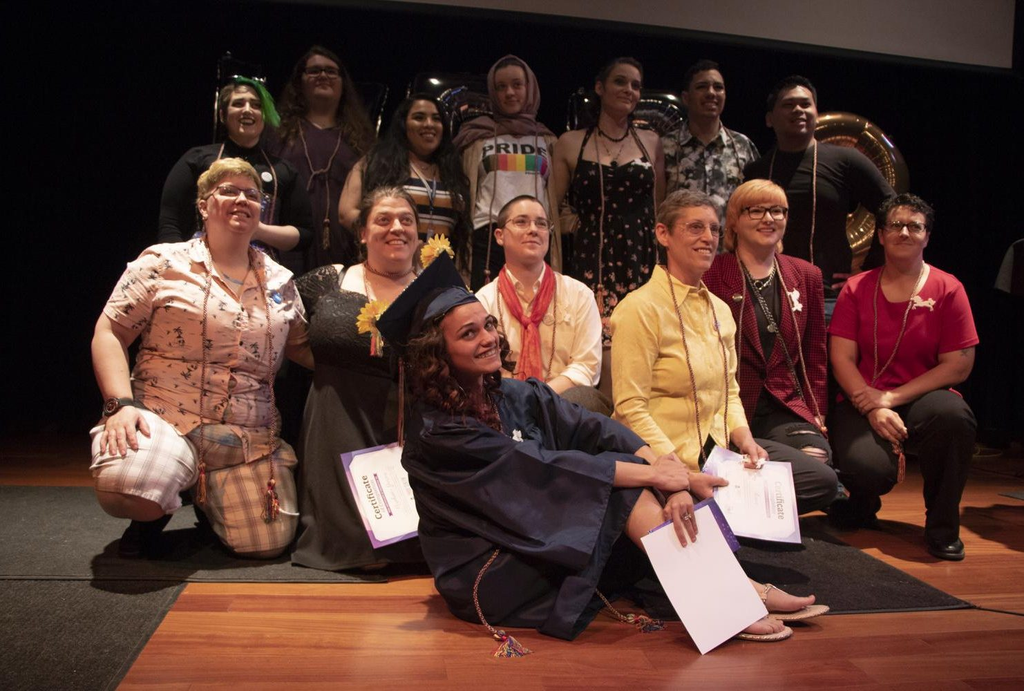 Fourteen graduates collected their diplomas on May 3 in the music recital hall at American River College's Lavender Graduation. The number of graduates almost tripled from last year.