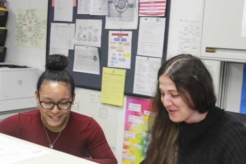 Student tutor Mozett Coleman and instructional assistant Lyudmila Moraru work at the Science Success Center, which is geared towards helping students be successful in their classes at American River College. (file photo)