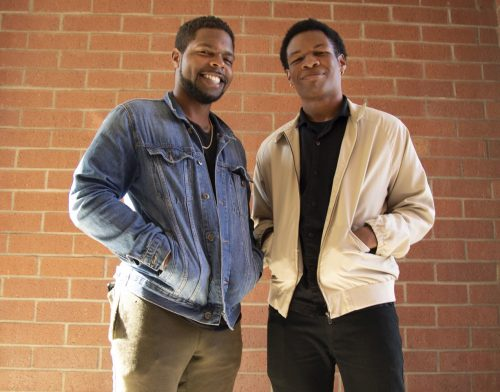 Kelvin Burt (left) and Joshua Harris (right) are two of the first students who started Brothers Breaking Barriers, which aims to create a space that supports men of color on the American River Campus. (Photo by Thomas Cathey)