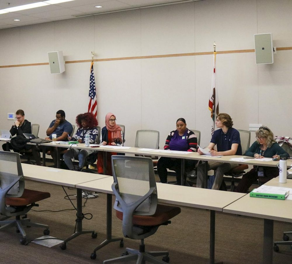 The American River College Associated Student Body met on Oct. 18 to pass two new bills regarding business cards for the student senate members and the upcoming silent disco event on campus for all students to attend. (Photo by Brandon Zamora)