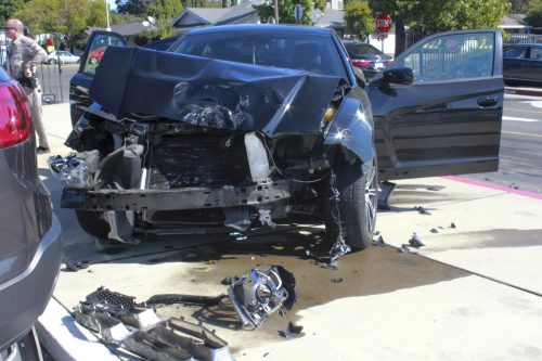 On Oct. 1, 2019, at least one student was involved in a car accident in parking lot A at American River College. Nobody was injured, according to Public Information Officer Scott Crow. (Photo by Emily Mello)