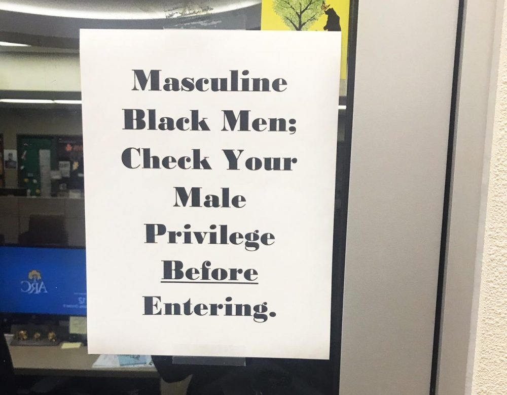 A flyer ignited a campus-wide conversation after this photo, taken by an unknown person, was shared in an American River College faculty email thread, as well as on Reddit and Twitter.