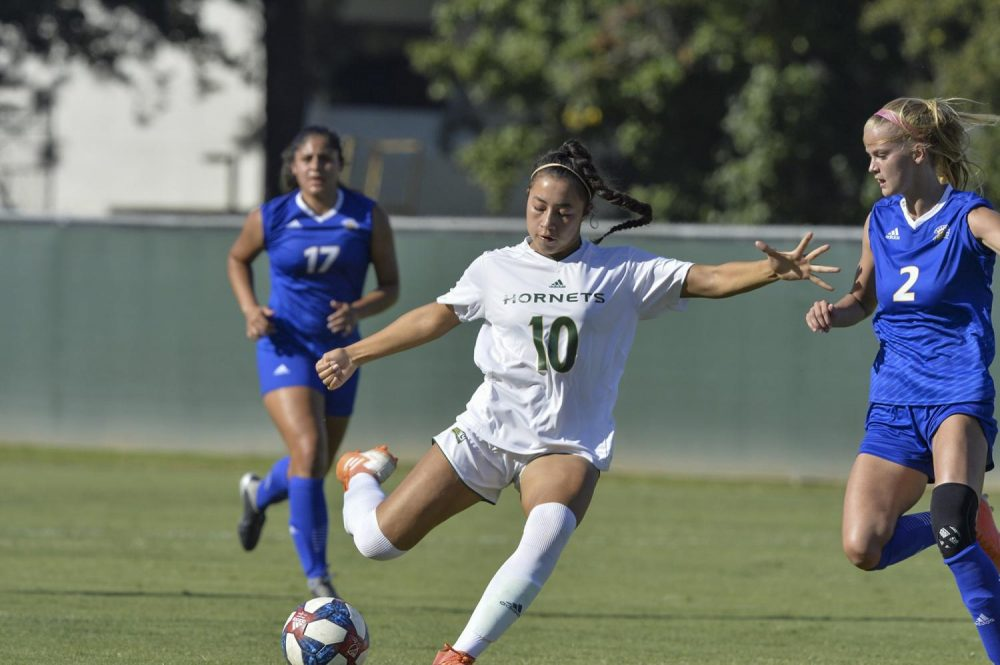 American River College alumni Tiffany Miras now plays soccer at Sacramento state as a NCAA athlete. (Photo courtesy of Tiffany Miras)