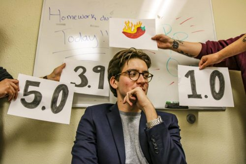 American River College professors discuss their feelings on ratemyprofessors.com in the 2019 fall semester. (Photo by Ashley Hayes-Stone)