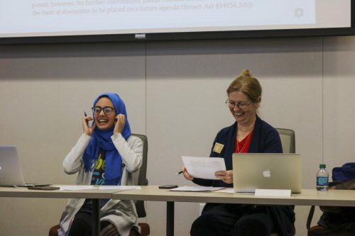 The American River College Associated Student Body met on Nov. 15 to pass a new bill which would allow funding for ARC's Model United Nations club's conference trip to San Francisco, CA in 2020.  (Photo by Brandon Zamora)