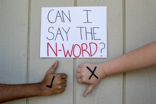 The n-word has created an ongoing controversy about who should be allowed to say it. (Photo illustration by Alexis Warren)