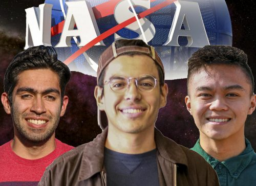 Students like Omar Costilla, Jesbaam Sanchez and Jedi Alindogan are students who've been through the NASA Community College Aerospace Scholars program.  (Photo Illustration by Bram Martinez)