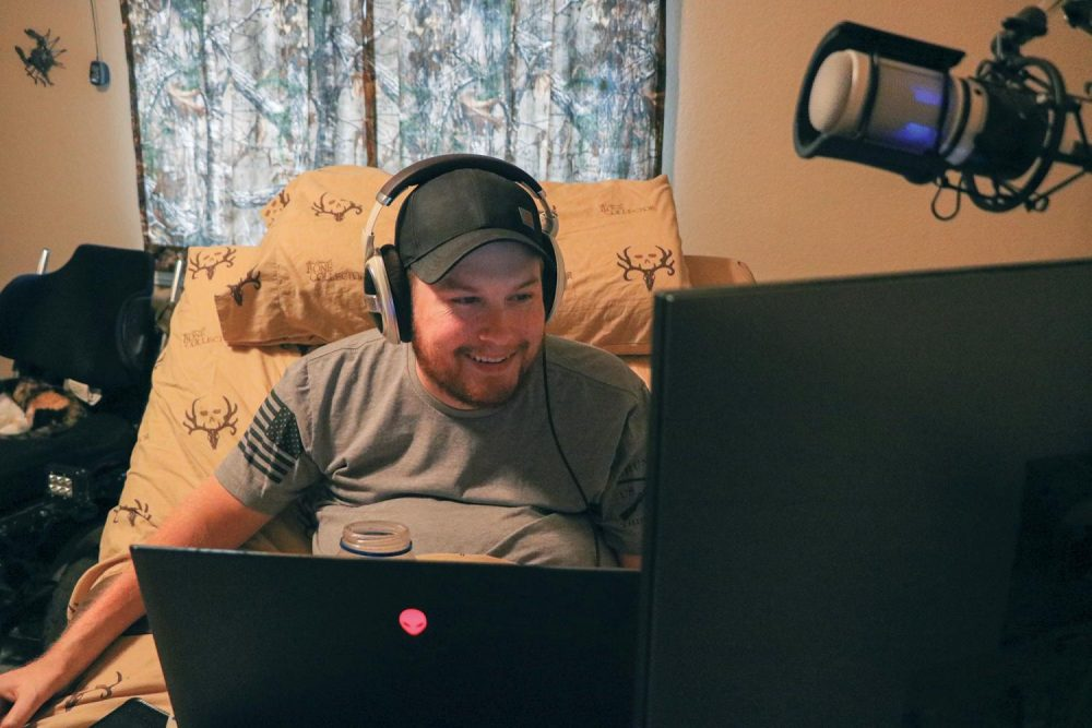 After a life-changing accident, when he was 17, Nick Rouse found gaming as a way to connect with and encourage other gamers with disabilities. Now, Rouses YouTube channel, Quadnick, has over 11 thousand subscribers. (Photo by Jack Harris)