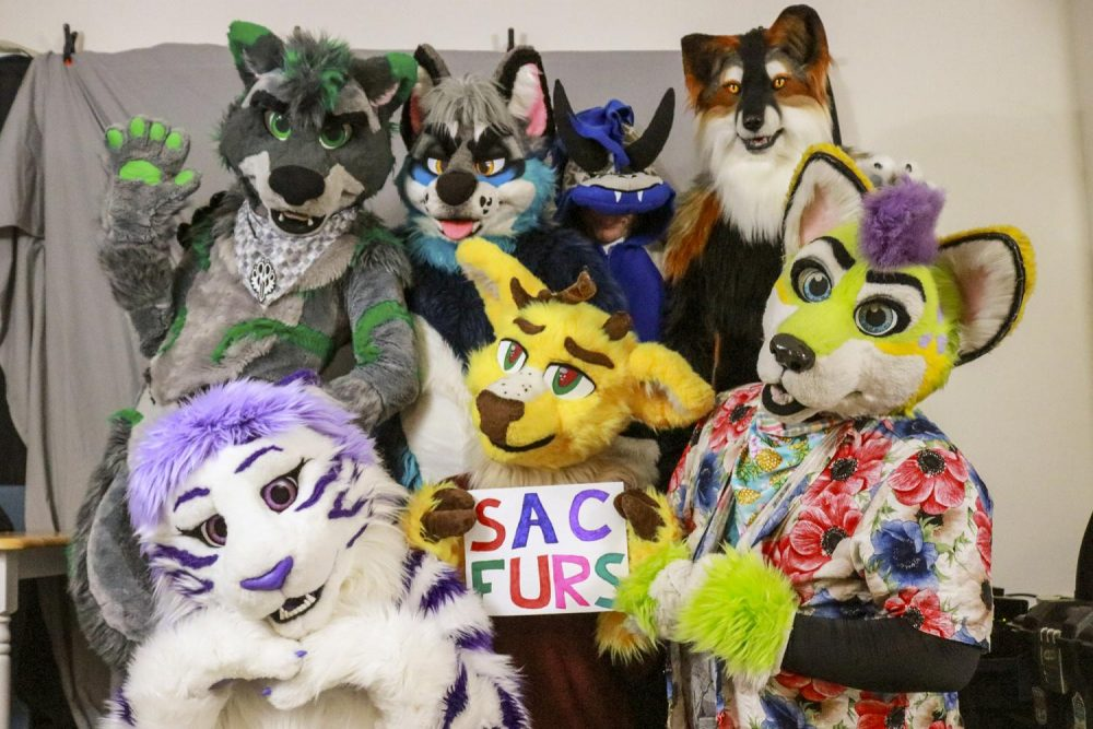The furry fandom is a diverse group of people who enjoy expressing themselves by identifying with their fursona, or animal persona, by either dressing up in their fursuits or attending furry social events. SacFurs is a group within Sacramento that holds regular social gathers in the community. (Photo illustration by Brandon Zamora)