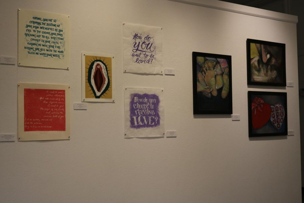 Xabi+Soto+Beleche%E2%80%99s+artwork+in+the+Kaneko+Art+Gallery+at+American+River+College+on+Jan+27%2C+2020.+%28+Photo+by+Brandon+Zamora%29