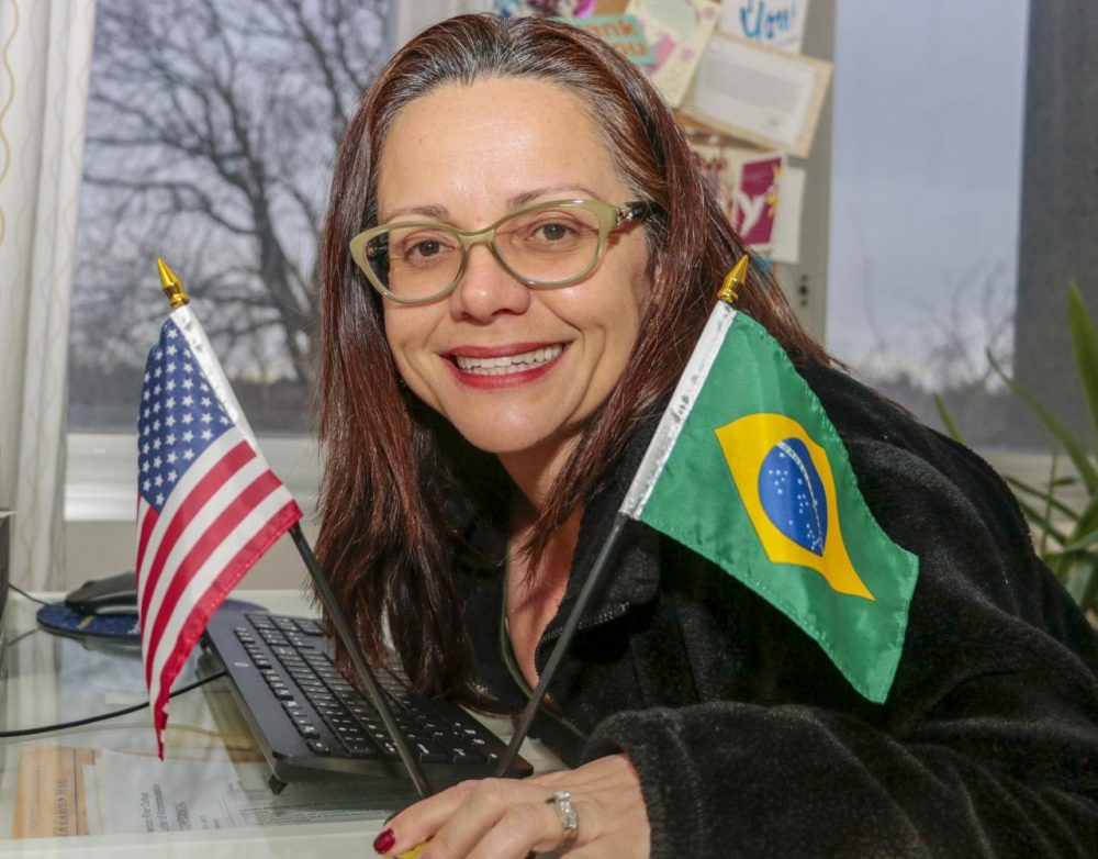 Andrea Garvey , American River College psychology professor and department chair , came from Brazil 26 years ago. Pictured here on Feb. 11 , 2020 , she was able to overcome the language barriers and succeed in her professional career and personal life. (Photo by Emily Mello)