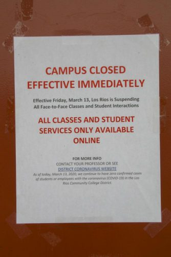 In the midst of campus closures that went into effect on March 13, students and employees voice concerns about the sudden changes instructed by the LRCCD. (Photo by Emily Mello)