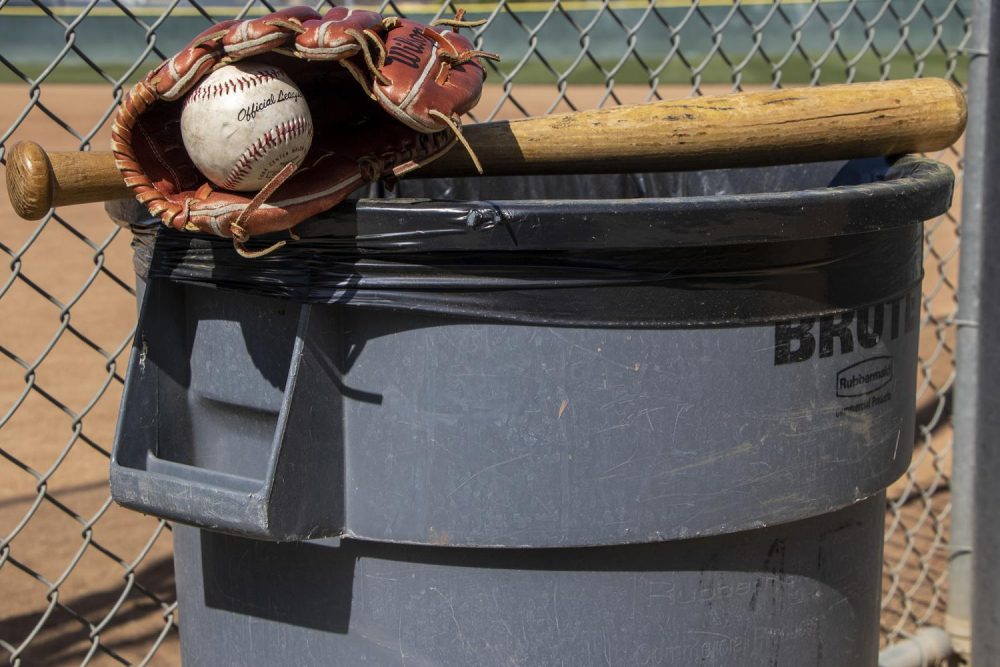 Major League Baseball team, the Houston Astros were caught cheating in the 2017 season by using cameras and trash cans to signal their batters what type of pitch was coming. (Photo Illustration by Brandon Zamora)