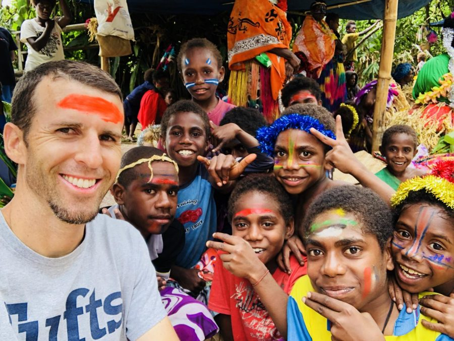 Asher attends a coming-of-age ceremony in Vanuatu, an island country off the eastern coast of Australia. He was introduced to the community through his friend in the Peace Corps. (Photo courtesy of Brian Asher)