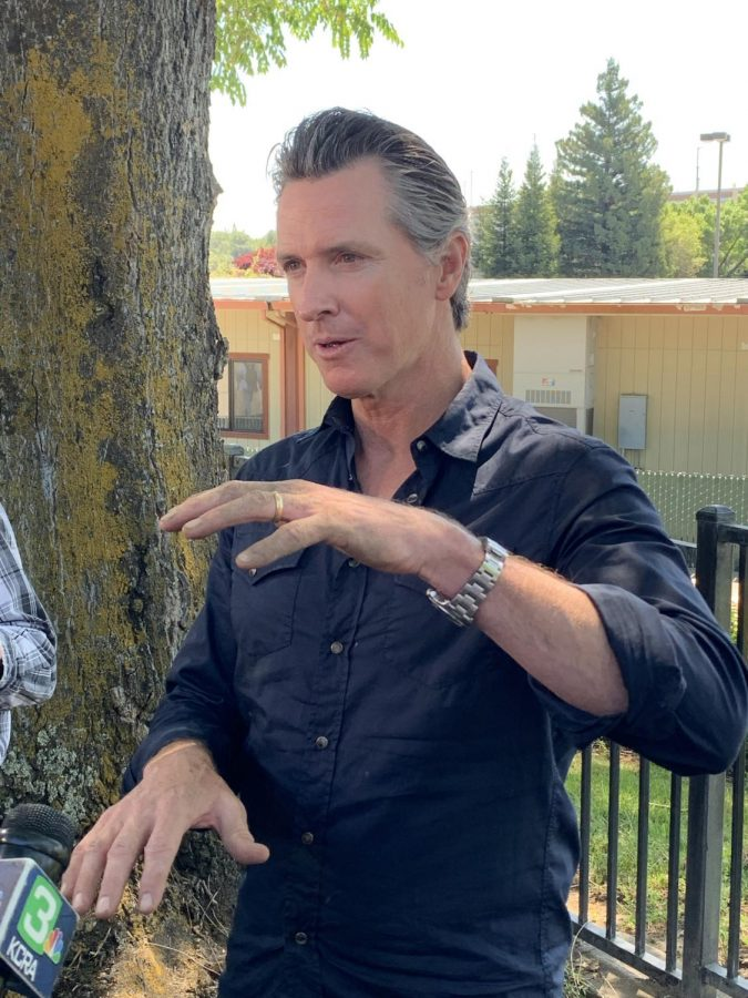 Governor Gavin Newsom plans to gradually reopen the state of California, which is a gradual way for the state to open up in attempts of the COVID-19 outbreak under control according to Newsom. (Photo by Emily Mello)