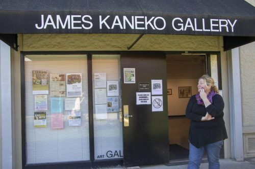 Despite the lockdown and subsequent school closure due to the COVID-19 pandemic, many American River College art classes have managed to adapt to the situation thanks to online conference calls in the fall semester 2020. Patricia Wood (pictured here) stands in front of the open Kaneko Art Gallery at ARC prior to the pandemic. (File photo by Ashley Hayes-Stone)