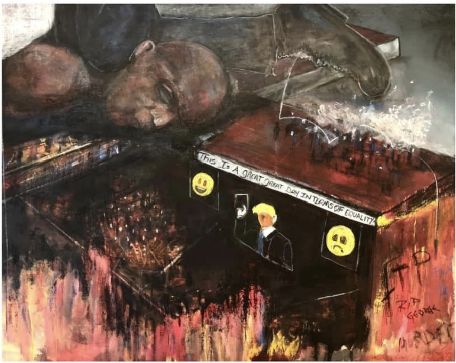 """The online exhibition """"An Artists' Response"""" is one of the few exhibitions being put on by the gallery at the moment. This exhibition features work from local, regional, and national artists and it showcases their response to the injustices in our country."""" (Screenshot by Will Minke)"""