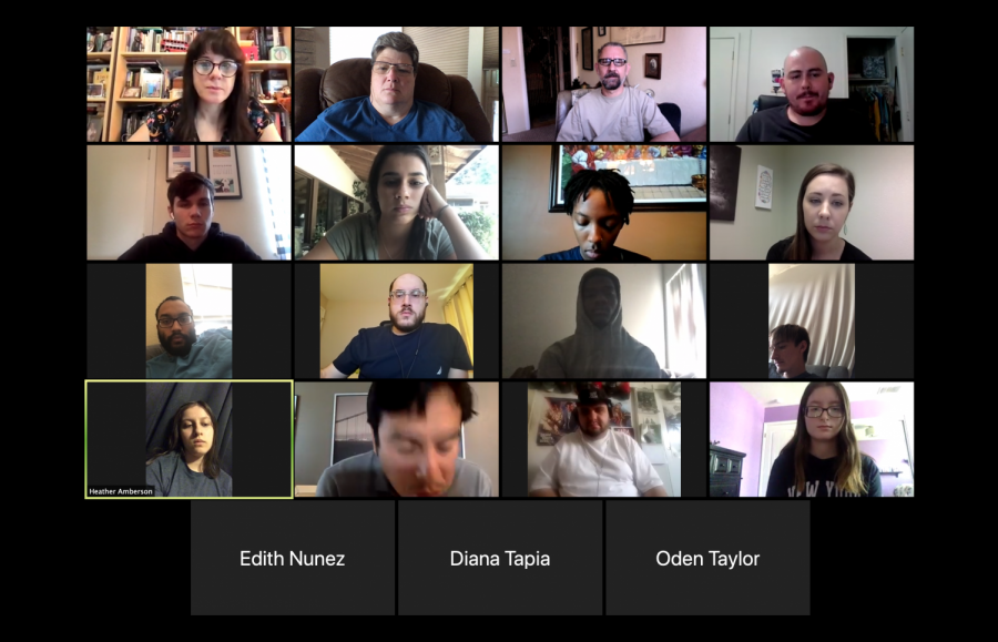 Here at the Current, Zoom meetings offer a mixture of convenience and inconvenience, depending on how many people are attending, and how cooperative our internet connections can be. (Screenshot taken by Jill Wagner)