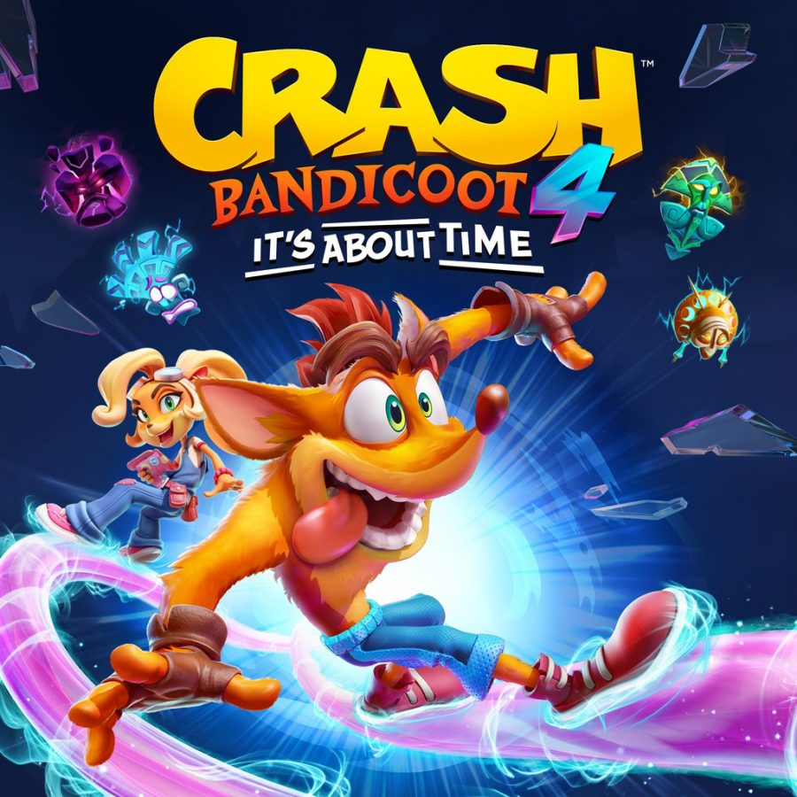 """On Oct. 2, 2020, """"Crash Bandicoot 4: It's About Time"""" was released on the Playstation 4 and Xbox One. Crash returns in his first original game in 10 years with silly but challenging platforming gameplay for old and new fans of the series to enjoy. (Photo courtesy of Activision)"""