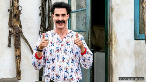 "Sacha Baron Cohen stars in ""Borat Subsequent Moviefilm"", released in select theaters and on Amazon Prime on Oct. 23, 2020. (Photo courtesy of Amazon Studios)"