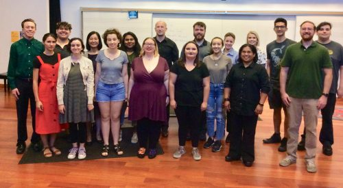 In August 2019, students gather for the Jump in and Sing workshop ran by American River College Professor Catherine Fagiolo. In spring 2021, Jump in and Sing continues virtually due to the COVID-19 pandemic. (Photo Courtesy of Catherine Fagiolo)