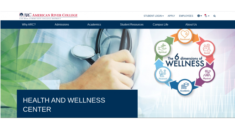 The ARC Health and Wellness center can be found on the ARC website under health and safety. (Photo via the ARC website)