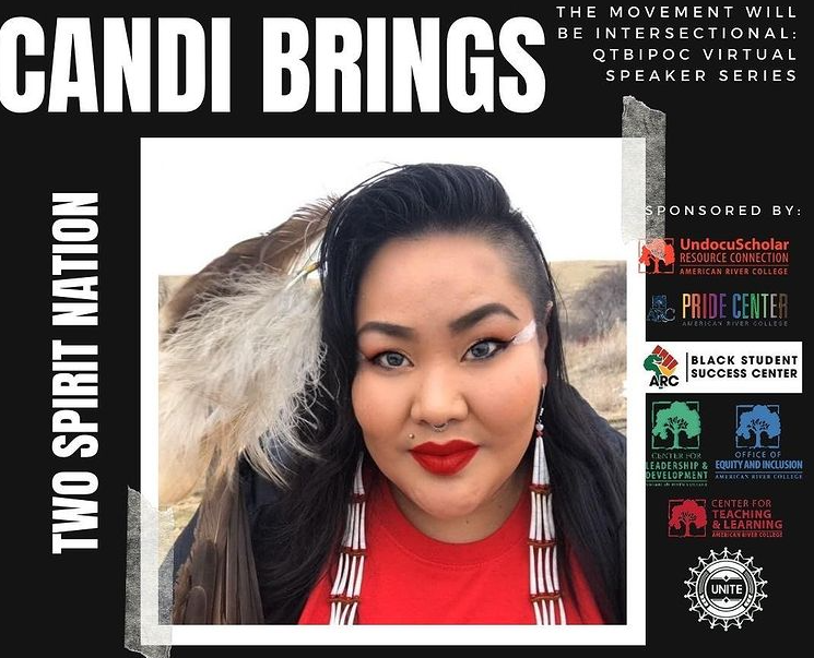 Queer, nonbinary, Native two-spirit activist Candi Brings Plenty, was promoted on UNITE's Instagram before their appearance in