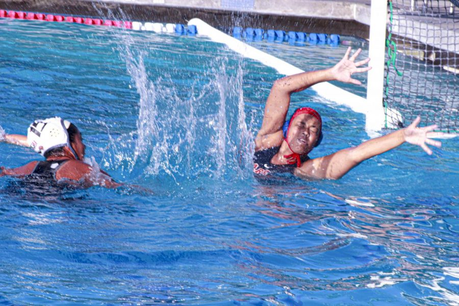 The women's water polo team has returned to American River College's campus and is conducting frequent practices while waiting to hear back from the Los Rios district office in regards to what's next for Beaver athletics. (File Photo)